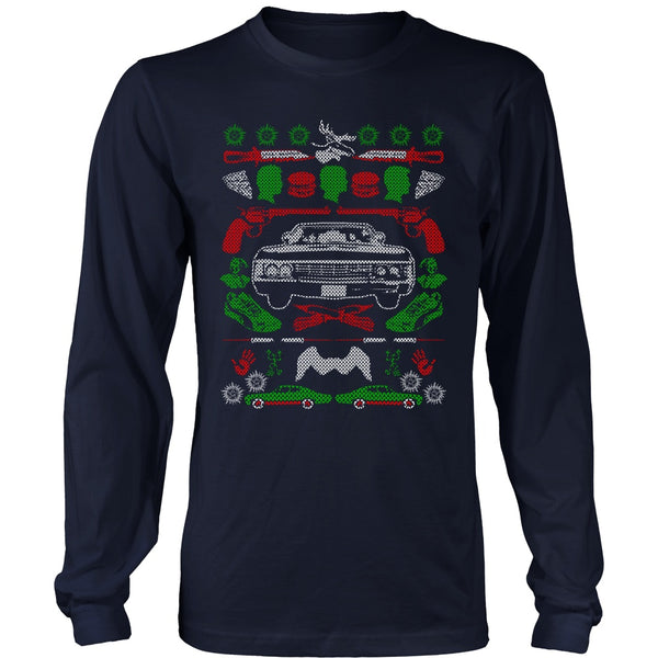 Impala Ugly Christmas Sweater - T-shirt - Supernatural-Sickness - 10