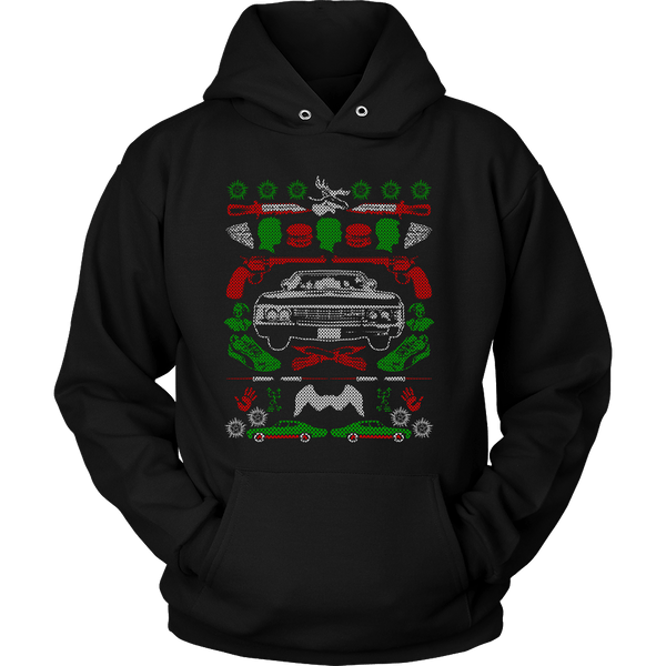 Impala Ugly Christmas Sweater - T-shirt - Supernatural-Sickness - 11