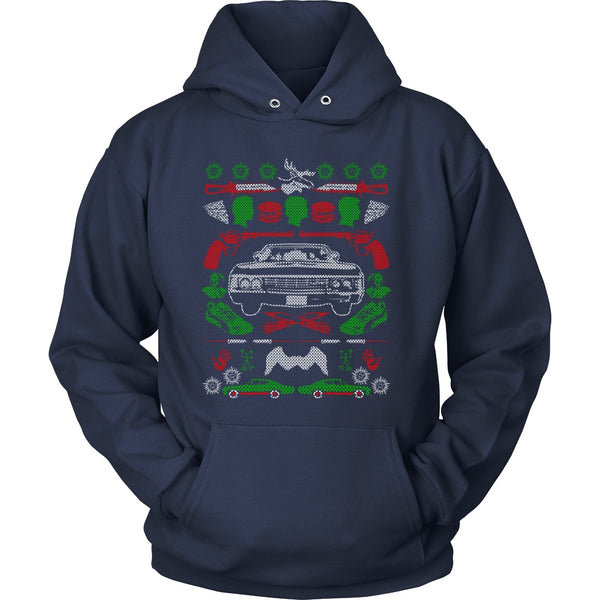 Impala Ugly Christmas Sweater - T-shirt - Supernatural-Sickness - 12