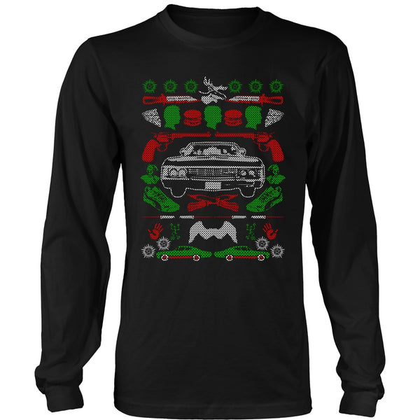 Impala Ugly Christmas Sweater - T-shirt - Supernatural-Sickness - 1