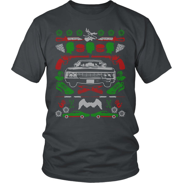 Impala Ugly Christmas Sweater - T-shirt - Supernatural-Sickness - 4