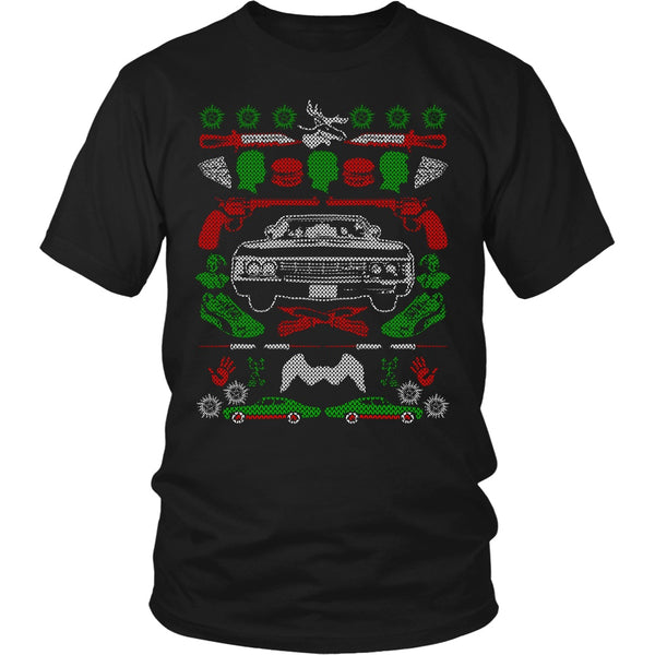 Impala Ugly Christmas Sweater - T-shirt - Supernatural-Sickness - 5