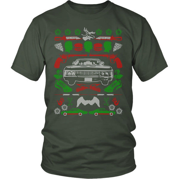 Impala Ugly Christmas Sweater - T-shirt - Supernatural-Sickness - 6