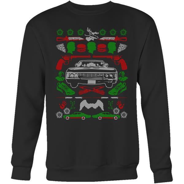 Impala Ugly Christmas Sweater - T-shirt - Supernatural-Sickness - 7
