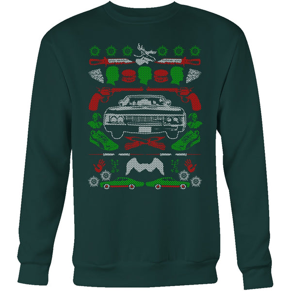 Impala Ugly Christmas Sweater - T-shirt - Supernatural-Sickness - 8