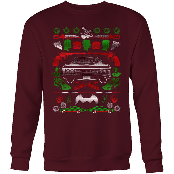 Impala Ugly Christmas Sweater - T-shirt - Supernatural-Sickness - 9