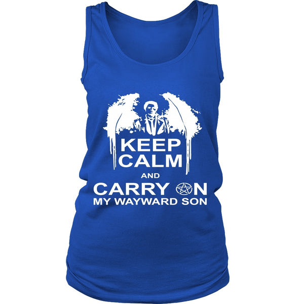 Keep Calm And Carry On My Wayward Son - Apparel - T-shirt - Supernatural-Sickness - 11