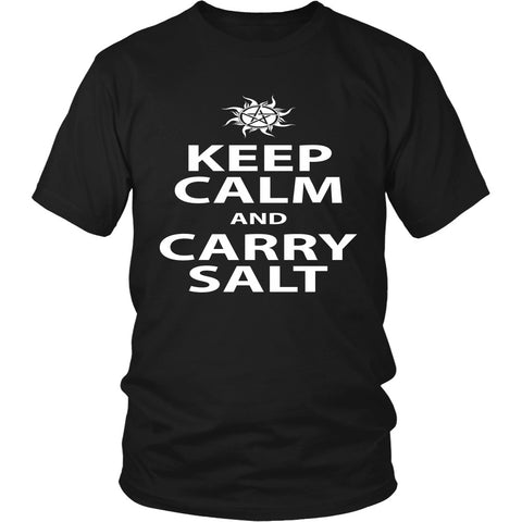 Keep Calm And Carry Salt - Apparel - T-shirt - Supernatural-Sickness - 1