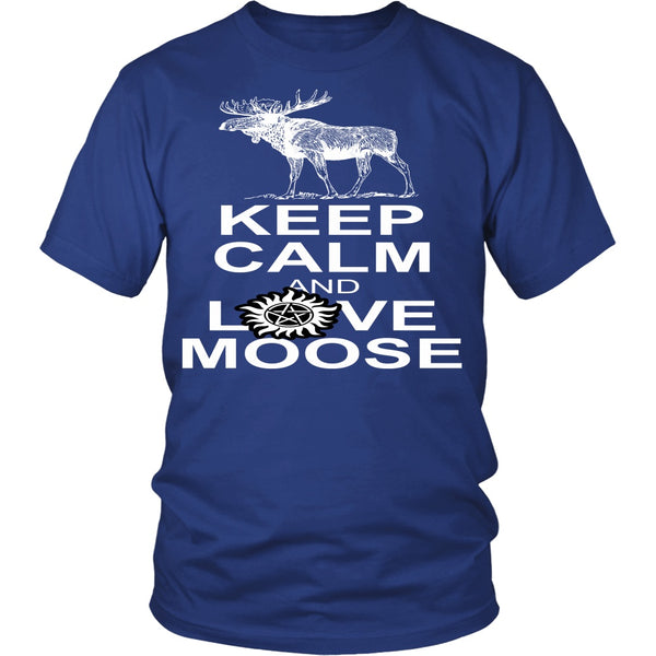 Keep Calm And Love Moose - T-shirt - Supernatural-Sickness - 2