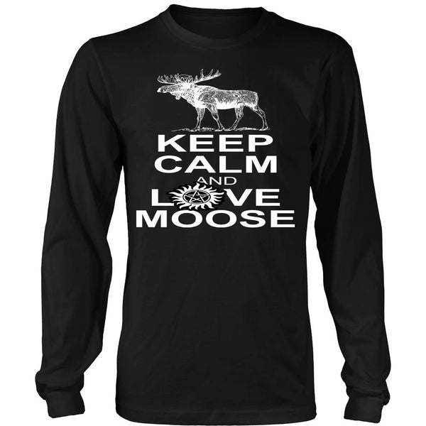 Keep Calm And Love Moose - T-shirt - Supernatural-Sickness - 7