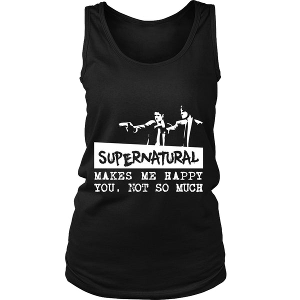 Supernatural makes me Happy - Apparel - T-shirt - Supernatural-Sickness - 10