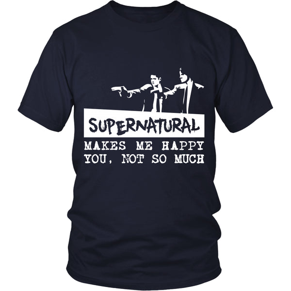 Supernatural makes me Happy - Apparel - T-shirt - Supernatural-Sickness - 2