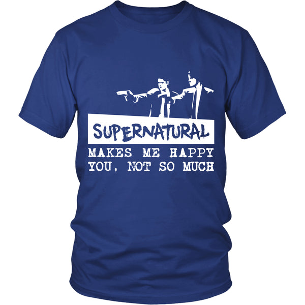 Supernatural makes me Happy - Apparel - T-shirt - Supernatural-Sickness - 3