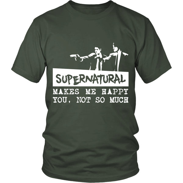Supernatural makes me Happy - Apparel - T-shirt - Supernatural-Sickness - 5