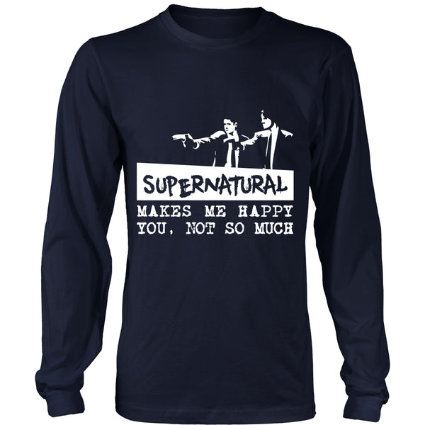Supernatural makes me Happy - Apparel - T-shirt - Supernatural-Sickness - 6