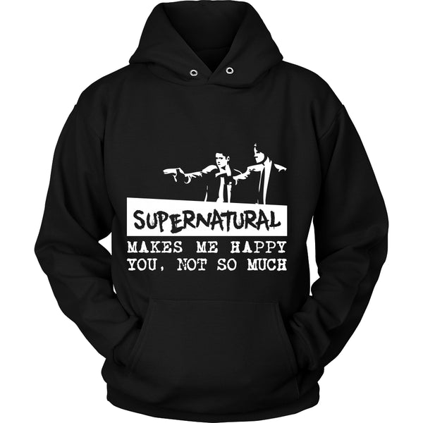 Supernatural makes me Happy - Apparel - T-shirt - Supernatural-Sickness - 8