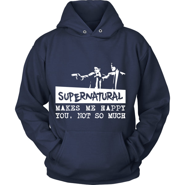 Supernatural makes me Happy - Apparel - T-shirt - Supernatural-Sickness - 9