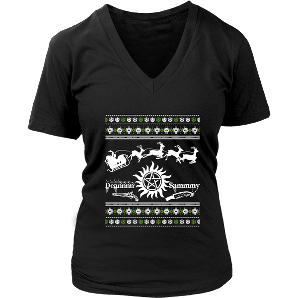 Supernatural UGLY Christmas Sweater - T-shirt - Supernatural-Sickness - 13