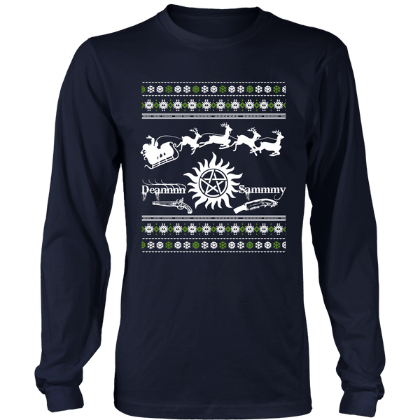 Supernatural UGLY Christmas Sweater - T-shirt - Supernatural-Sickness - 2