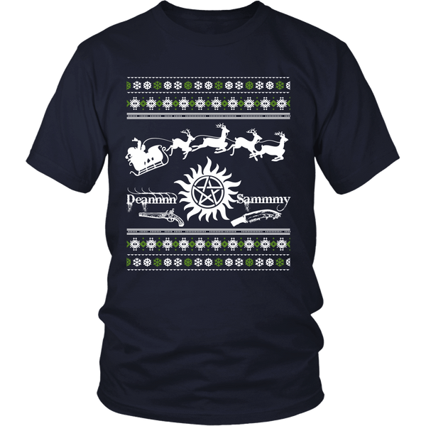 Supernatural UGLY Christmas Sweater - T-shirt - Supernatural-Sickness - 4