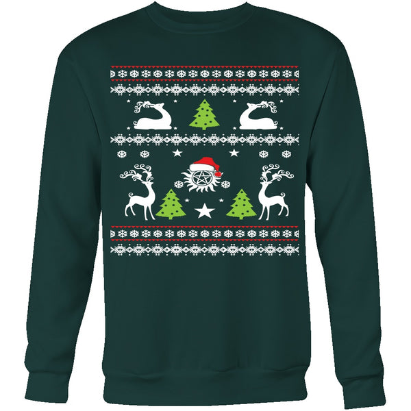 Supernatural UGLY Christmas Sweater - T-shirt - Supernatural-Sickness - 8