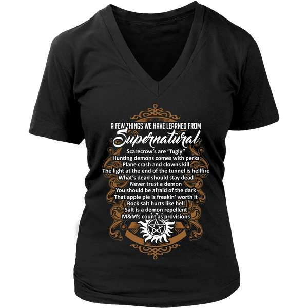 Things Learned From Supernatural - Apparel - T-shirt - Supernatural-Sickness - 12
