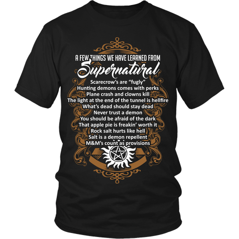 Things Learned From Supernatural - Apparel - T-shirt - Supernatural-Sickness - 1