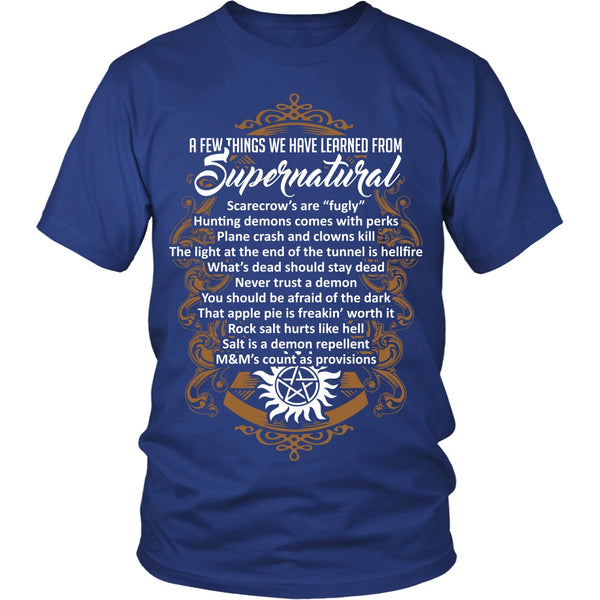 Things Learned From Supernatural - Apparel - T-shirt - Supernatural-Sickness - 2