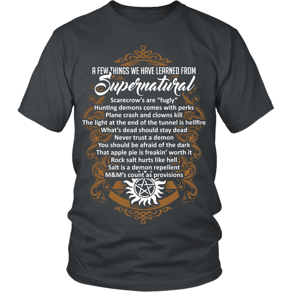 Things Learned From Supernatural - Apparel - T-shirt - Supernatural-Sickness - 4