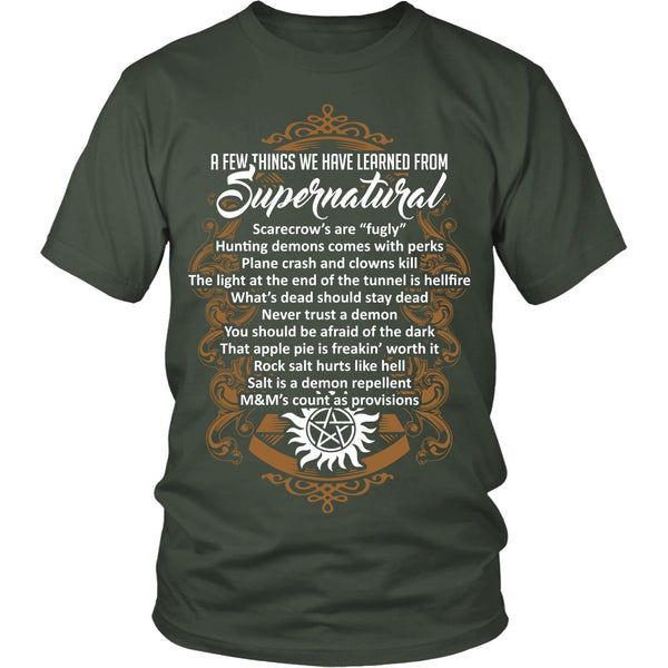 Things Learned From Supernatural - Apparel - T-shirt - Supernatural-Sickness - 5