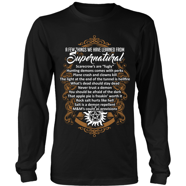 Things Learned From Supernatural - Apparel - T-shirt - Supernatural-Sickness - 7