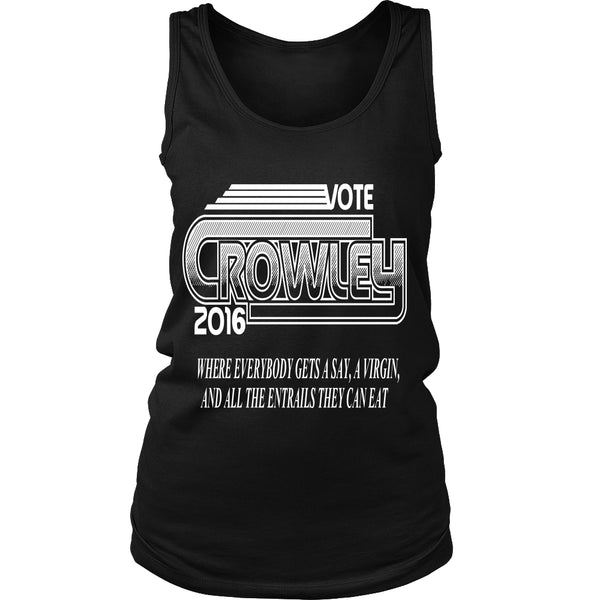 Vote Crowley - Tank Top - T-shirt - Supernatural-Sickness - 13