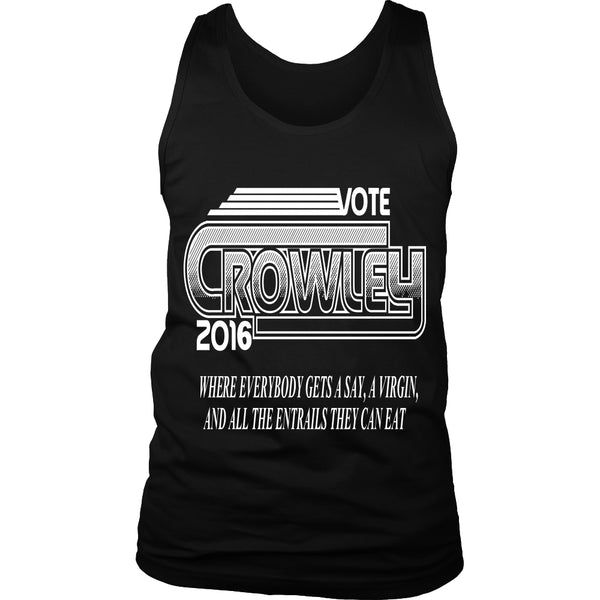Vote Crowley - Tank Top - T-shirt - Supernatural-Sickness - 1