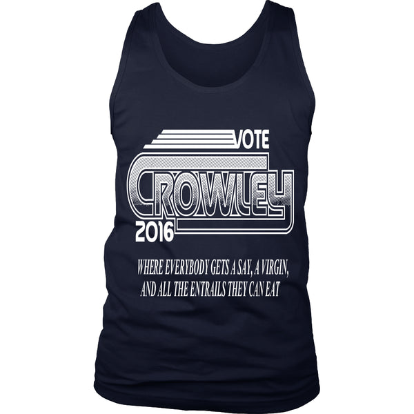 Vote Crowley - Tank Top - T-shirt - Supernatural-Sickness - 2