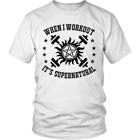 When I Workout - Apparel - T-shirt - Supernatural-Sickness - 1