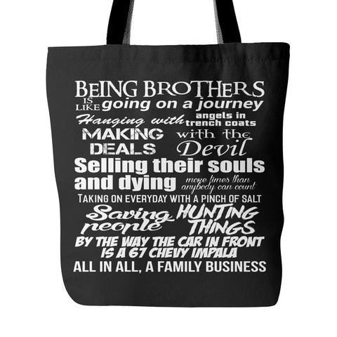 Being Brothers - Totebag - Tote Bags - Supernatural-Sickness - 1