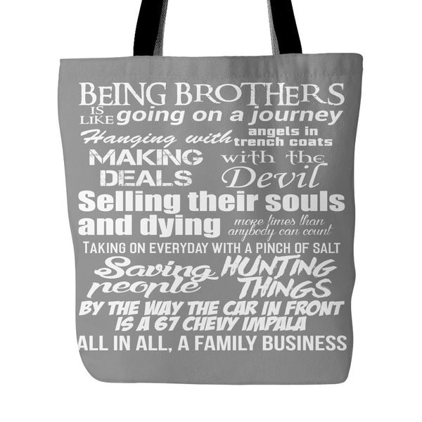 Being Brothers - Totebag - Tote Bags - Supernatural-Sickness - 2