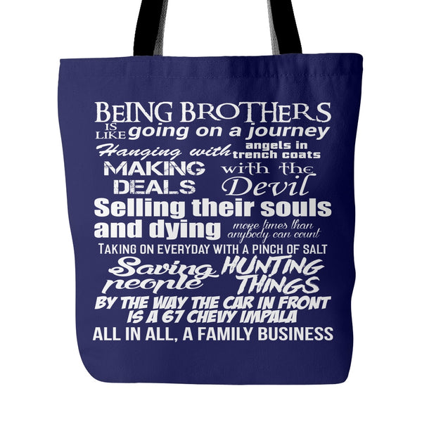 Being Brothers - Totebag - Tote Bags - Supernatural-Sickness - 3