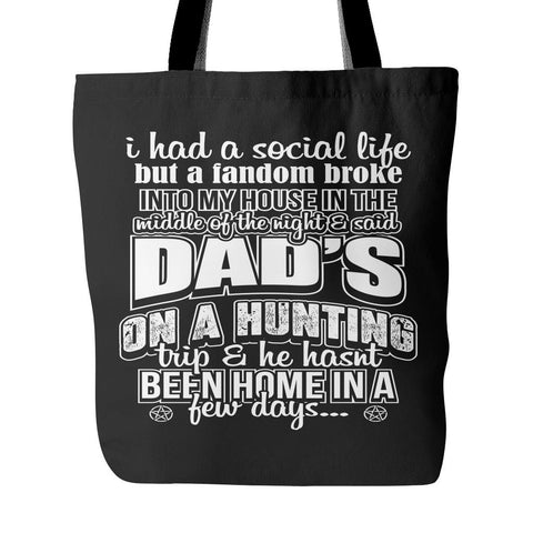 Dads on a Hunting - Tote Bag - Tote Bags - Supernatural-Sickness - 1