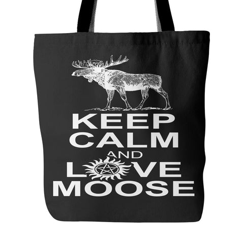 Keep Calm And Love Moose Totebag - Tote Bags - Supernatural-Sickness - 1