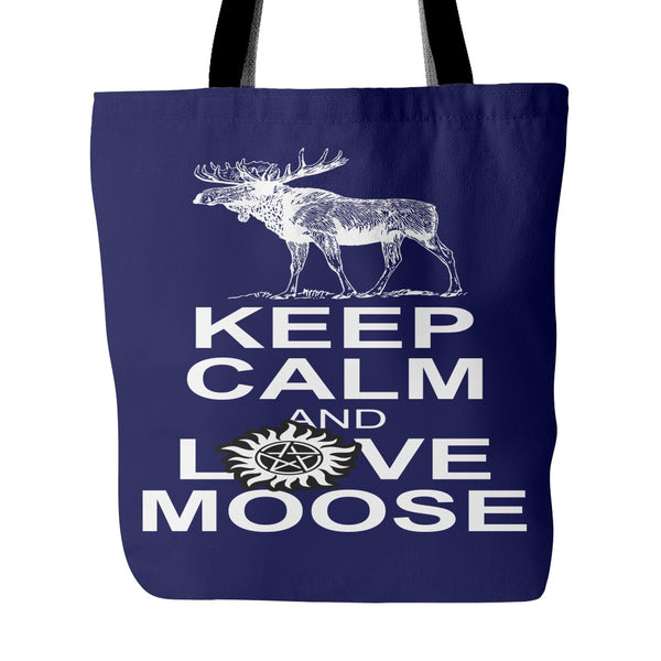 Keep Calm And Love Moose Totebag - Tote Bags - Supernatural-Sickness - 2
