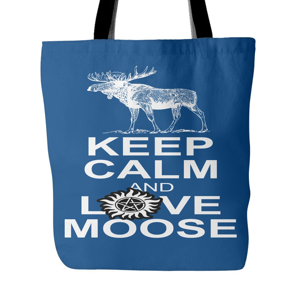 Keep Calm And Love Moose Totebag - Tote Bags - Supernatural-Sickness - 3
