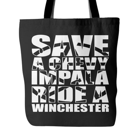 Save A Chevy Impala - Totebag - Tote Bags - Supernatural-Sickness - 1