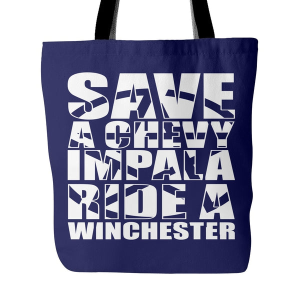 Save A Chevy Impala - Totebag - Tote Bags - Supernatural-Sickness - 3