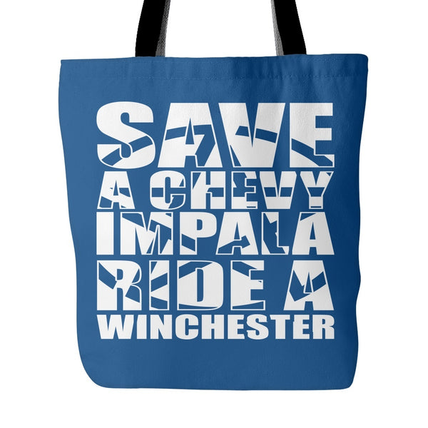 Save A Chevy Impala - Totebag - Tote Bags - Supernatural-Sickness - 4