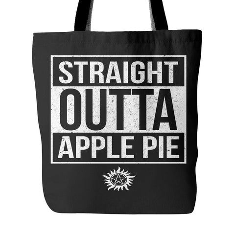 Straight Outta Apple Pie - Tote Bag - Tote Bags - Supernatural-Sickness - 1
