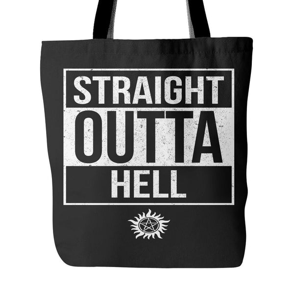 Straight Outta Hell - Tote Bag - Tote Bags - Supernatural-Sickness - 1
