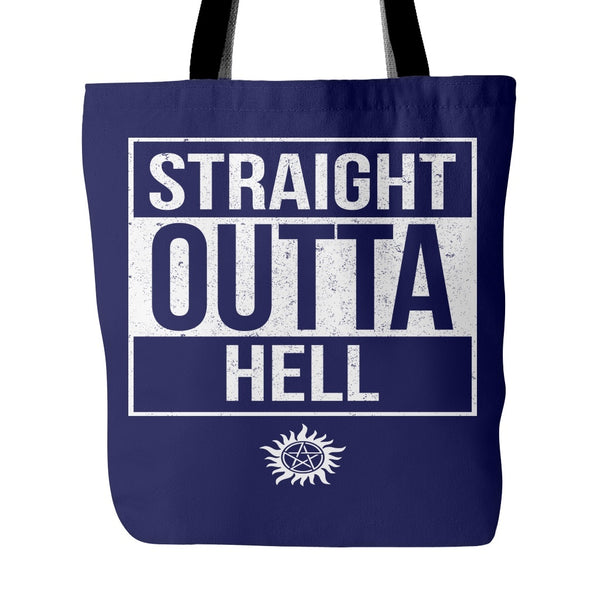 Straight Outta Hell - Tote Bag - Tote Bags - Supernatural-Sickness - 3