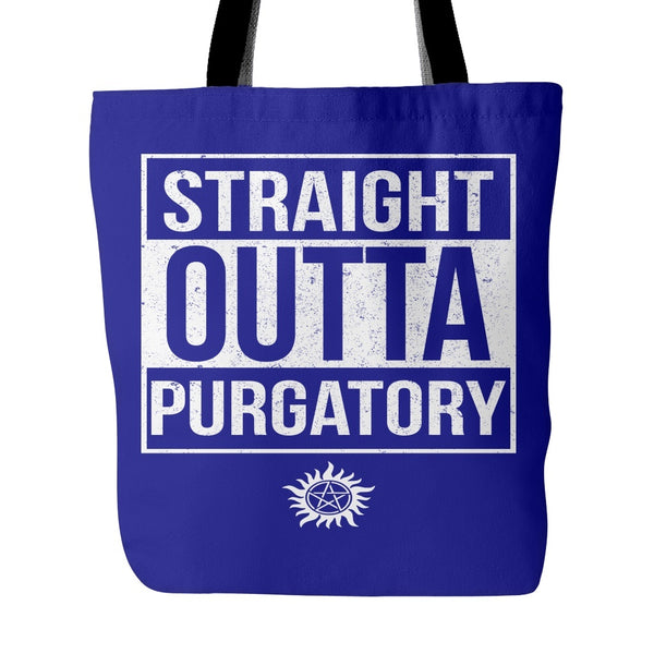 Straight Outta Purgatory - Tote Bag - Tote Bags - Supernatural-Sickness - 3