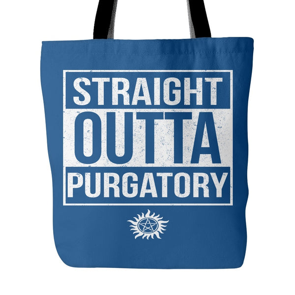 Tote Bags - Straight Outta Purgatory - Tote Bag